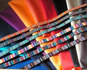 Tambours en toile, différentes couleurs